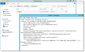 sharepoint-site-notebook-feature-definition